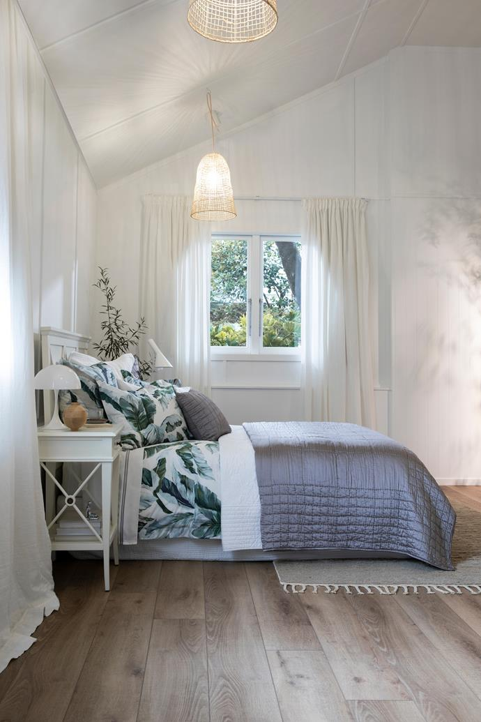 Natural fabrics are best for layering a winter bed, says Paula.