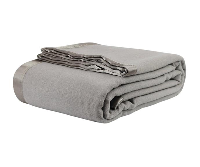 """**[Jason Australian wool blanket in silver, $87 (Queen), Kogan](https://www.kogan.com/au/buy/jason-australian-wool-blanket-silver-queen-bedking-bed-jason/