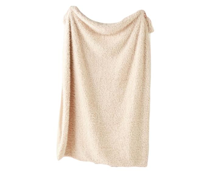 """**[Gardner vanilla throw, $89.99, Linen House](https://www.linenhouse.com/gardner-vanilla-throw