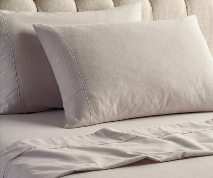 """**[Heritage Turkish flannelette cotton sheet set, $59.97, Myer](https://www.myer.com.au/p/heritage-flannelette-turkish-cotton-shet-set-800317450-800313310-1