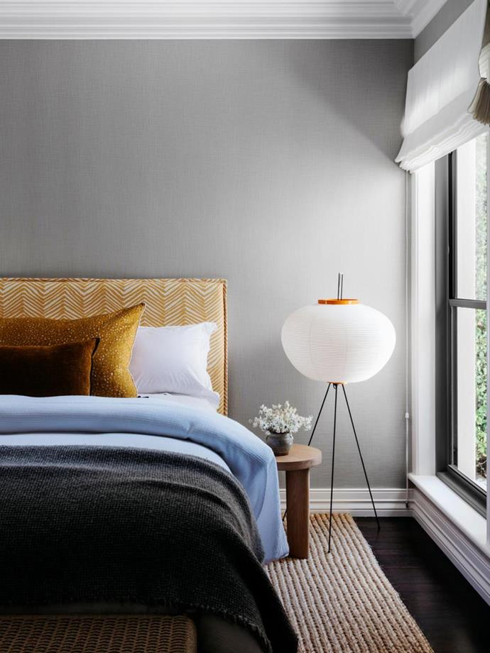 """This pretty guest bedroom in a [functional yet elegant home by Arent & Pyke](https://www.homestolove.com.au/functional-and-elegant-home-by-arent-and-pyke-20352
