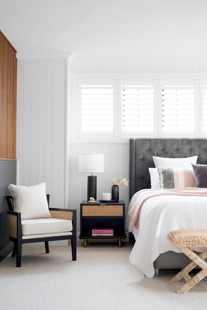 """Every inch of this bedroom in a [modern new-build in Brisbane](https://www.homestolove.com.au/modern-new-build-brisbane-22028