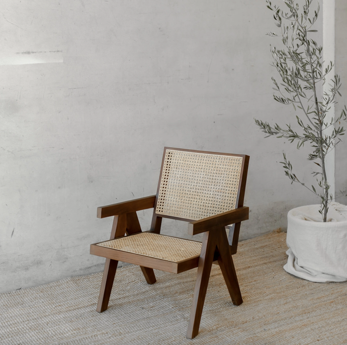 """**Frank Armchair in Brown, $899, [McMullin & Co.](https://www.mcmullinandco.com/frank-armchair-brown