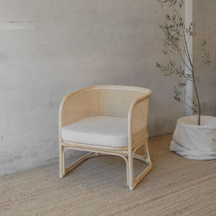 """**Lucia Armchair, $599, [McMullin & Co.](https://www.mcmullinandco.com/lucia-armchair