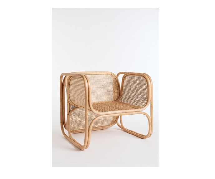 """**The Cane Lounger in Natural, $880, [Worn Store](https://wornstore.com.au/collections/chairs/products/the-cane-lounger-natural-natural-available-to-order