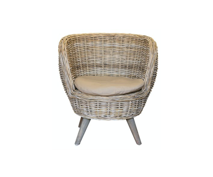 """**Florabelle Mako Rattan Occasional Chair, $649, [Zanui](https://www.zanui.com.au/Mako-Rattan-Occasional-Chair-165655.html