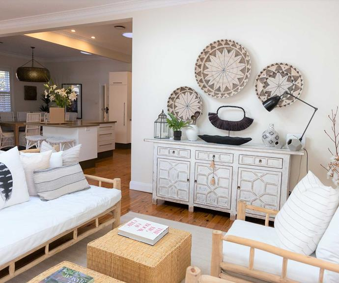 The open-plan kitchen living and dining area in Byng Street includes this cosy sitting space.