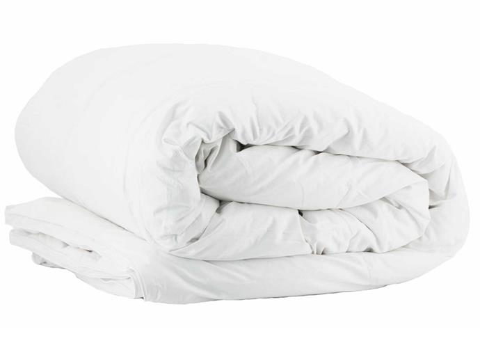 """**Canningvale Oca Bianchina White Goose Feather & Down Quilt in Queen, $159.99, [Canningvale](https://www.canningvale.com/oca-bianchina-queen-white-goose-feather-down-quilt/