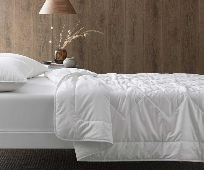 """**Cotton House Australian Wool Blend Quilt, $249.95 - $449.95, [Bed Bath 'N Table](https://www.bedbathntable.com.au/ch-blend-white-020201