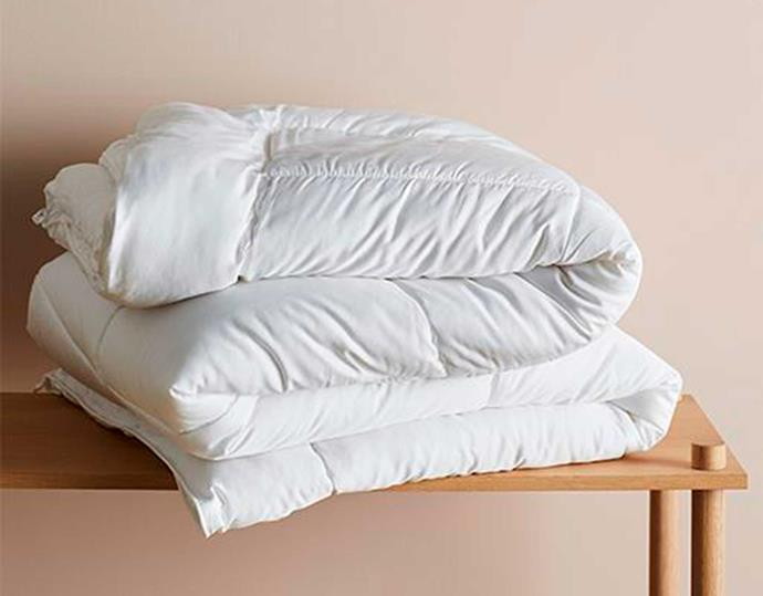 """**Ettitude Down Alternative Quilt, $190 - $290, [Ettitude](https://www.ettitude.com.au/products/down-alternative-quilt