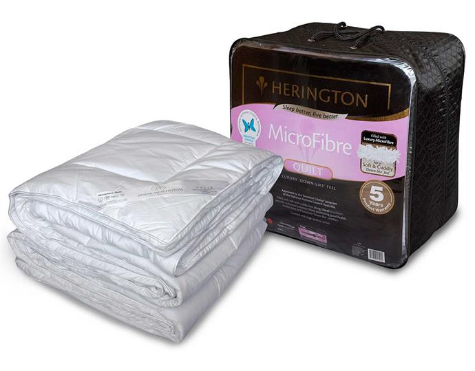 """**Herington Microfibre Low Allergy Quilt, $199.95 - $339.95, [David Jones](https://www.davidjones.com/home-and-food/bed-and-bath/quilts/20601088/Microfibre-Low-Allergy-Quilt-Queen.html