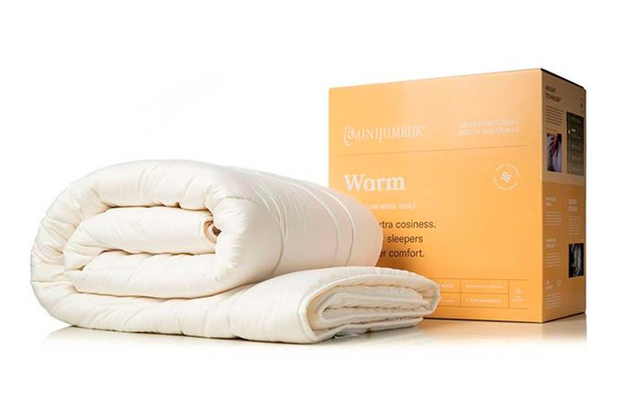 """**MiniJumbuk Warm Wool Quilt, $429.99 - $749.99, [Myer](https://www.myer.com.au/p/warm-wool-quilt-230343850