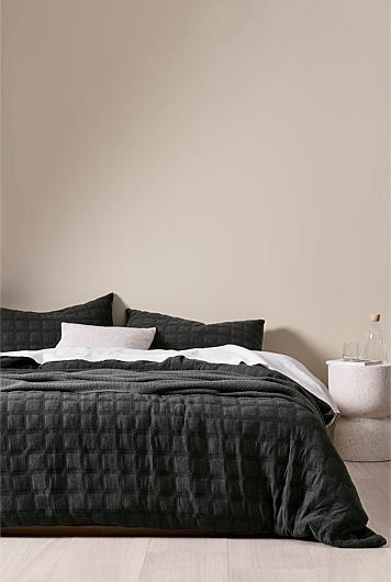 """**Monn Queen Quilt Cover, $249, [Country Road](https://www.countryroad.com.au/monn-queen-quilt-cover-60250819-109