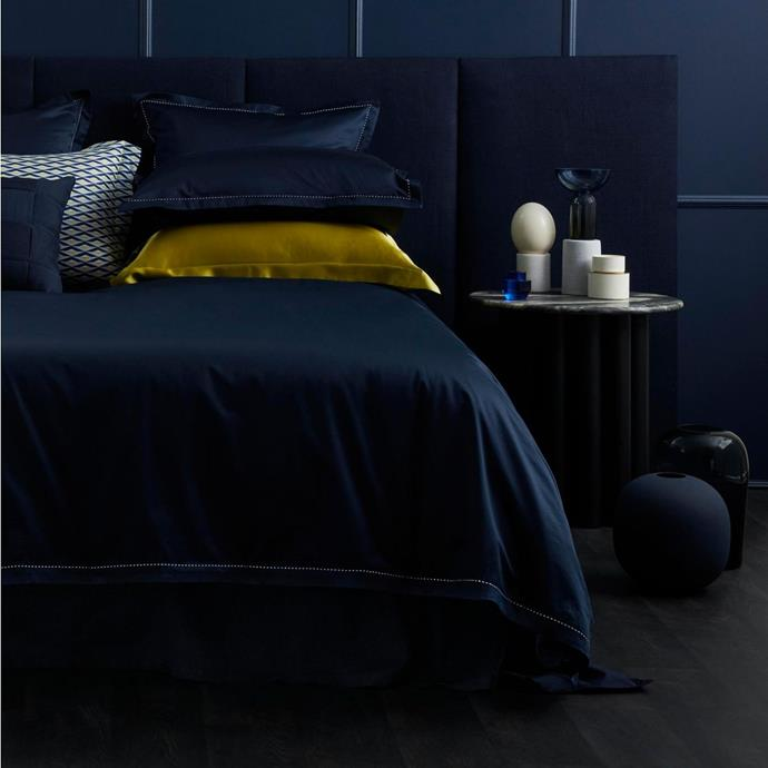 """**1200tc Garrow Tailored Quilt Cover in Midnight, Queen, $629.99, [Sheridan](https://www.sheridan.com.au/1200tc-garrow-tailored-quilt-cover-s7h4-b110-c195-749-midnight.html