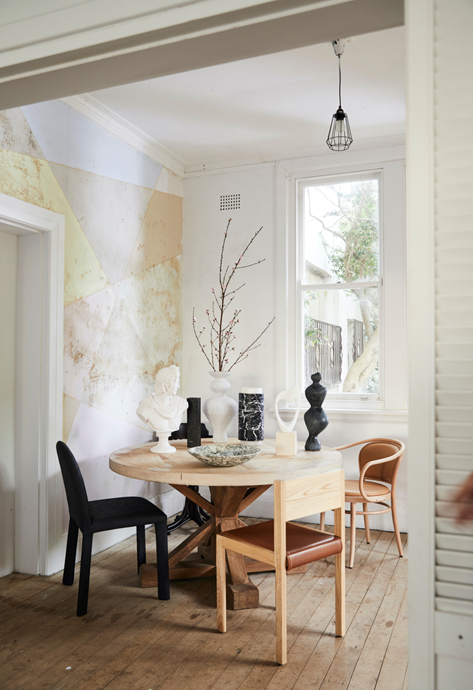 """Vintage furniture and [classic interior style](https://www.homestolove.com.au/classical-decor-interior-trend-22150