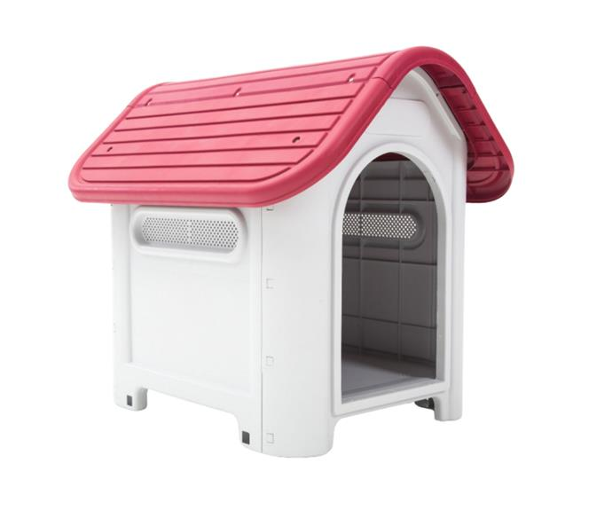 """**[Paw Mate  plastic dog kennel in pink, $54.90, Catch.com.au](https://www.catch.com.au/product/paw-mate-dog-kennel-house-luna-m-plastic-pink-541059