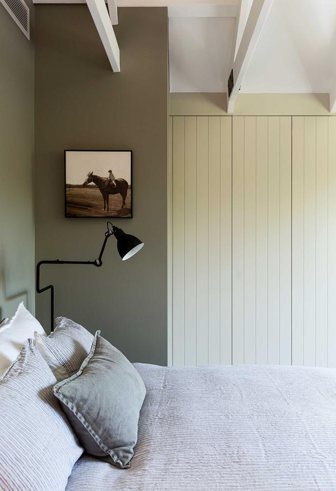 """**Bedroom** In this elegant yet relaxed space, the wall colour is [Porter's Paints](https://www.porterspaints.com/