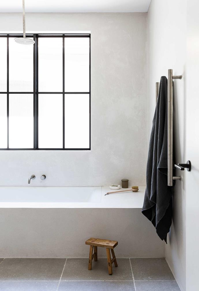 """**Main bathroom** Chloe opted for a Kaldewei Puro Duo bathtub from [Reece](https://www.reece.com.au/