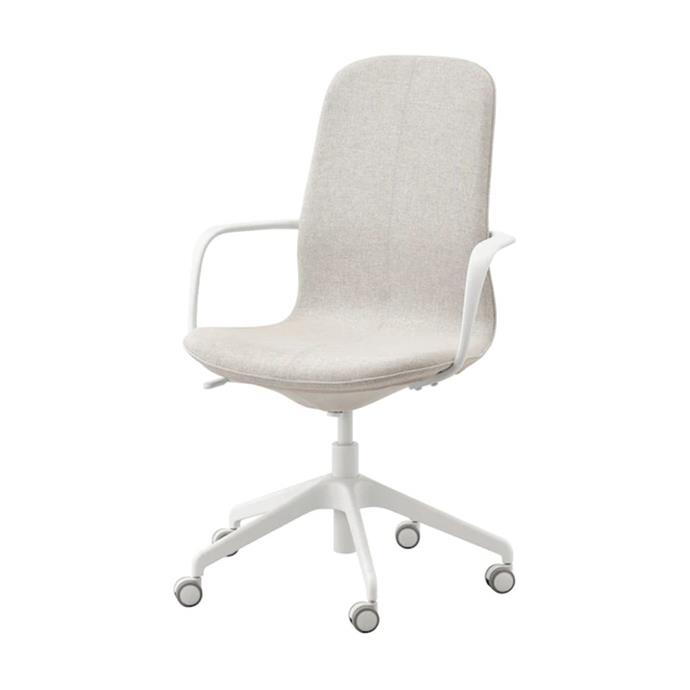 """**LÅNGFJÄLL office chair, $259, [Ikea](https://www.ikea.com/au/en/p/langfjaell-office-chair-with-armrests-gunnared-beige-white-s89252792/