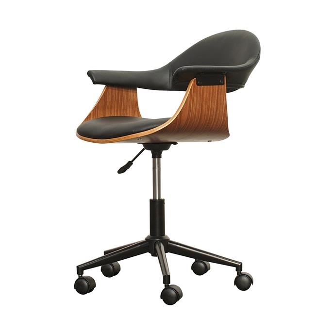 """**Nicholson office chair, $199, [Living Style](https://www.livingstyles.com.au/nicholson-office-chair/