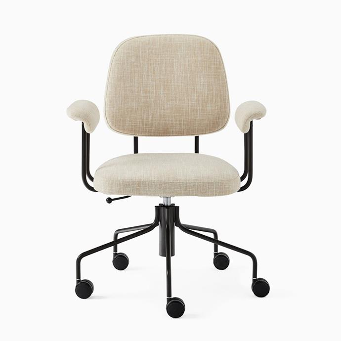 """**Cash office armchair, $399, [West Elm](https://www.westelm.com.au/cash-office-chair-h7849