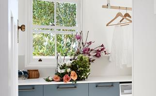 Classic laundry with hanging rail