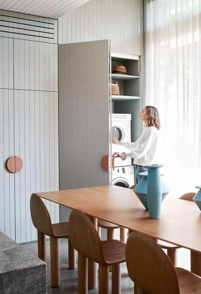 """The most extraordinary aspect of this Sydney laundry by [interior designer Caitlin Parker-Brown](https://www.parkerstudiointerior.com/