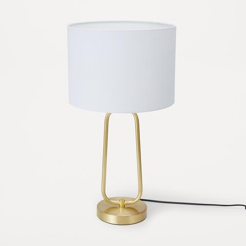 """Touches of gold bring warmth to an otherwise cold space, and the [Gold Look Table Lamp](https://www.kmart.com.au/product/gold-look-table-lamp/3497313