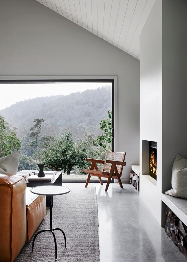 """While the design of this [farmhouse weekender's](https://www.homestolove.com.au/modern-farmhouse-style-weekender-21723