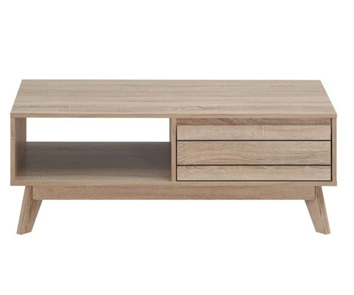 """**U.S Designs 'MacNeil' coffee table, $175.46, [Zanui](https://www.zanui.com.au/MacNeil-Coffee-Table-197397.html