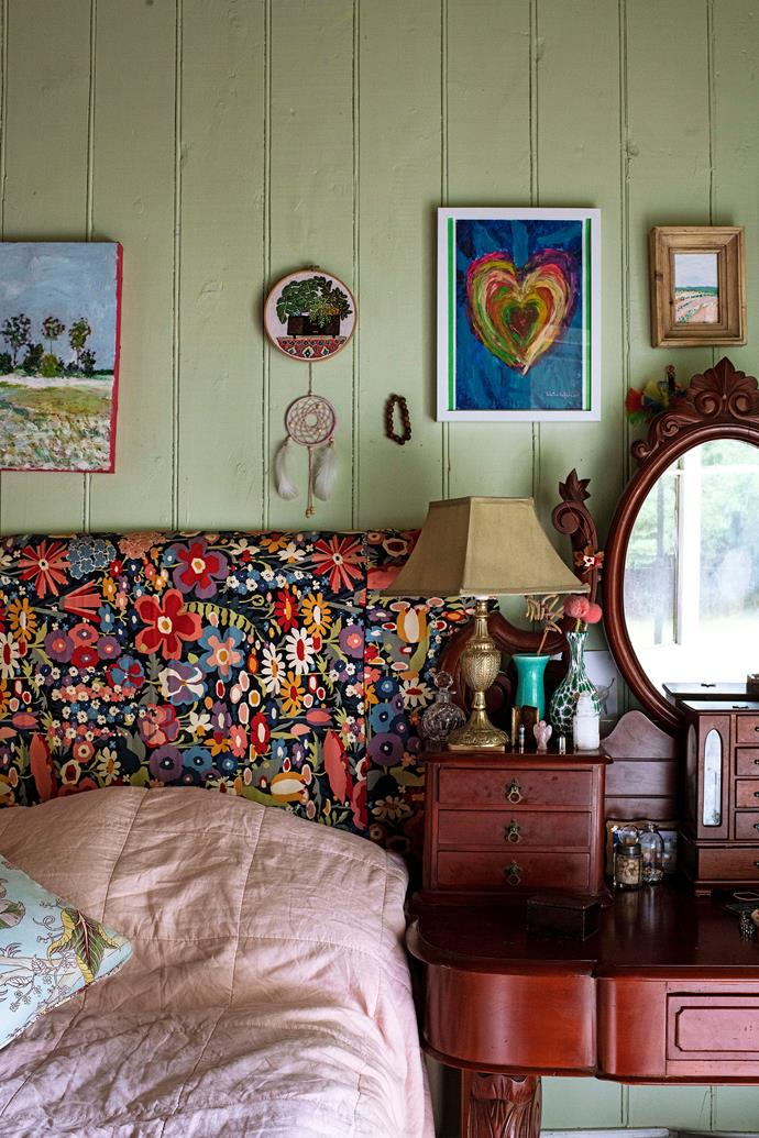 Antique furniture adds to the sense of history.