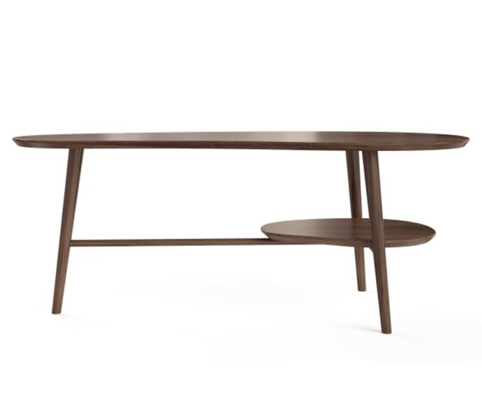 """**Olsen coffee table, $199, [Brosa](https://www.brosa.com.au/products/olsen-coffee-table-with-shelf