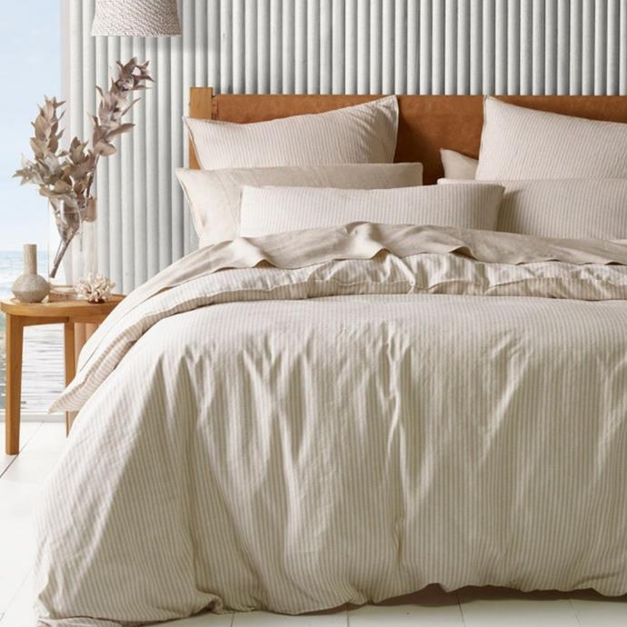 """**Australian House & Garden Drift Yarn Dye Stripe Quilt Cover Set, $29.95 - $219.95, [Myer](https://www.myer.com.au/p/australian-house-garden-drift-yarn-dye-stripe-quilt-cover-set