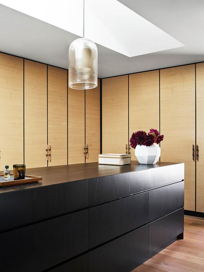 """In the [luxury walk-in wardrobe](https://www.homestolove.com.au/luxury-walk-in-wardrobe-design-ideas-18929