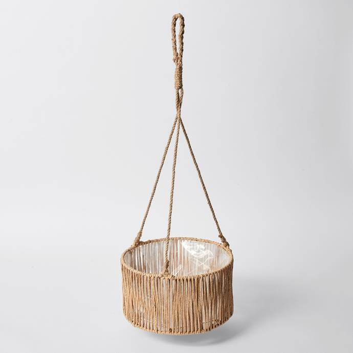 """**[Paper cord hanging planter, $29](https://www.target.com.au/p/paper-cord-hanging-planter-pot/64710181
