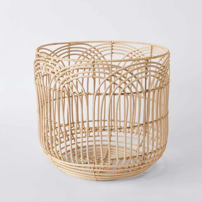 """**[Medium round rattan storage basket, $39](https://www.target.com.au/p/medium-round-rattan-storage-basket/64169026