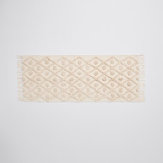 """**[Diamond tufted runner, $35](https://www.target.com.au/p/diamond-tufted-runner/62337014