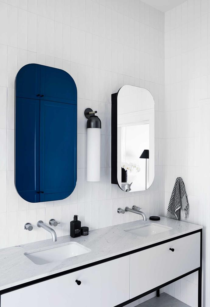 """**Ensuite** Custom mirrors by [Studio Griffiths](https://www.studiogriffiths.com.au