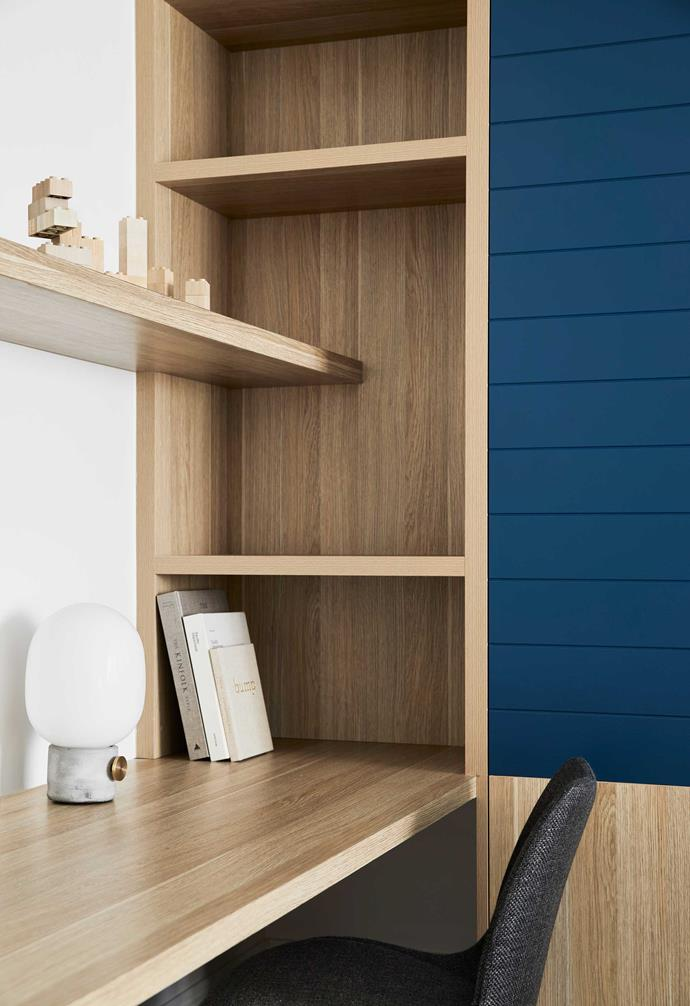 """**Kids' study nook** Two-pack cabinetry in [Dulux](https://www.dulux.com.au/
