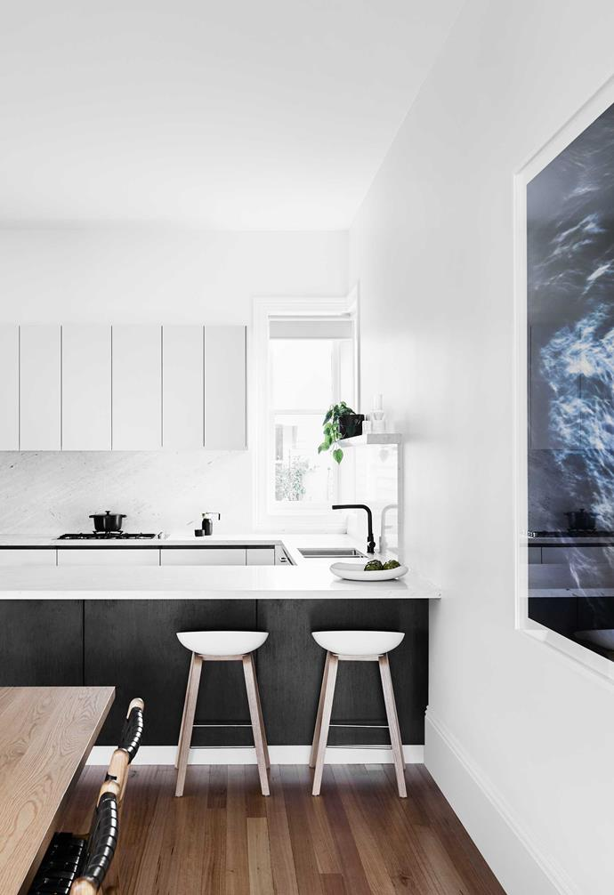 """**Kitchen/dining** Two-pack joinery in [Dulux](https://www.dulux.com.au/