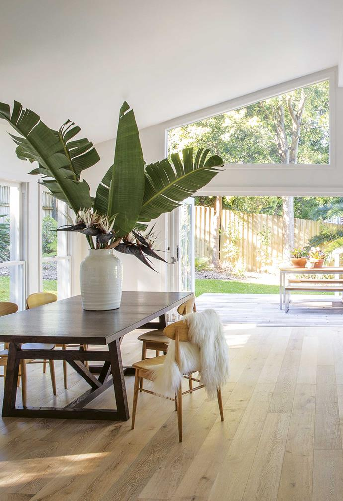 **Dining** The timber tones add depth to the dining area.