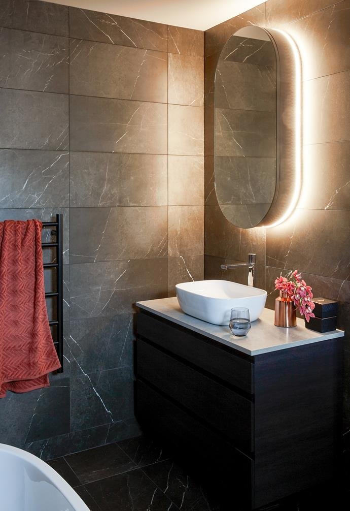 Clever lighting design on a vanity unit from Custom Display Solutions adds glamour.
