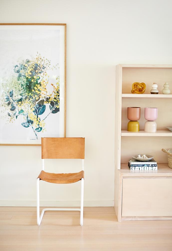 Scandinavian furnishings bring a modern edge to the living space.