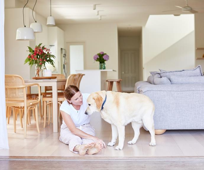 The open-plan living space is perfect for family, and pet, life.