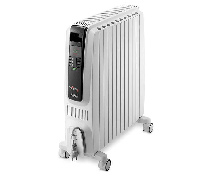 """**De'Longhi Dragon 4 Portable Oil Column Heater 2400W, $255, [Amazon Australia](https://www.amazon.com.au/DeLonghi-Dragon4-Column-Heater-Electronic/dp/B076HMJRH1 target=""""_blank"""" rel=""""nofollow"""")**.<br><br>De'Longhi's portable oil column heaters are crowd favourites for a reason: super portable and incredibly efficient, they also come with an incredible 7 year warranty. This radiant heater is designed to be energy-saving and cost-effective to run, and boasts three heat settings as well as a 24 hour timer."""
