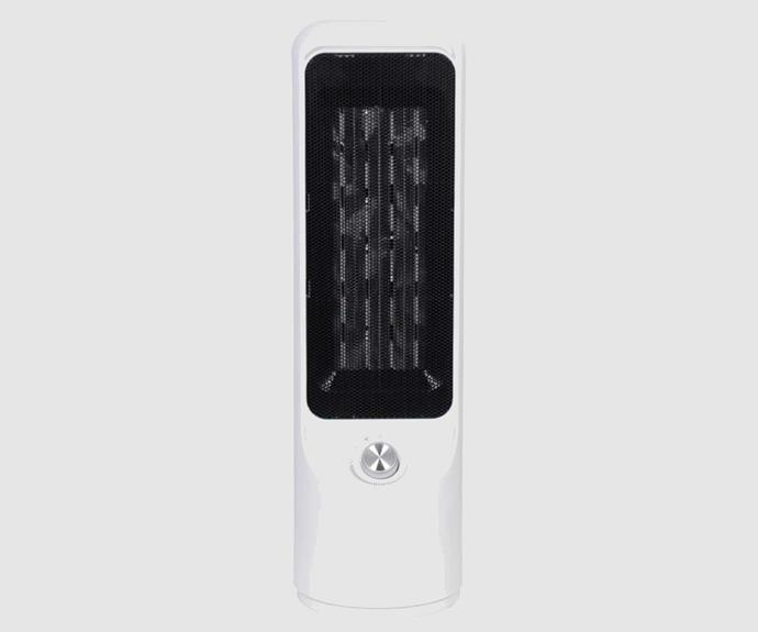 **Dimplex 2000W Tall Ceramic Heater, $99, [The Good Guys](https://www.thegoodguys.com.au/dimplex-2kw-tall-ceramic-heater-dhcera20m#)**.<br><br>This minimalist tower heater fan features a clever Oscillation function that allows heat to be dispersed quickly and evenly throughout the entire room. The heater features two heat settings, as well as an adjustable thermostat dial to help you regulate the room's temperature. The hardworking DC motor technology ensures that your heater warms up your room just where you need it. It can also be used purely as a fan during the warmer months.