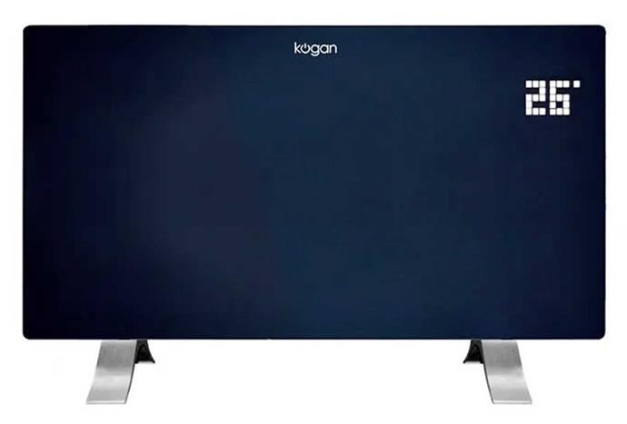 """**Kogan SmarterHome 2400W Smart Glass Panel Heater in Black, $99, [Kogan](https://www.kogan.com/au/buy/kogan-smarterhome-2400w-smart-glass-panel-heater-black/ target=""""_blank"""" rel=""""nofollow"""")**.<br><br>If you're looking for a sleek and stylish panel heater that will look right at home in any modern abode, Kogan's SmarterHome glass panel heaters could be the answer. Compatible with both Google Assistant and Amazon Alexa, you'll be able to easily set schedules and adjust the temperature with just your voice."""