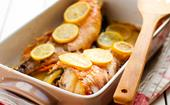 Lemon baked whole red emperor