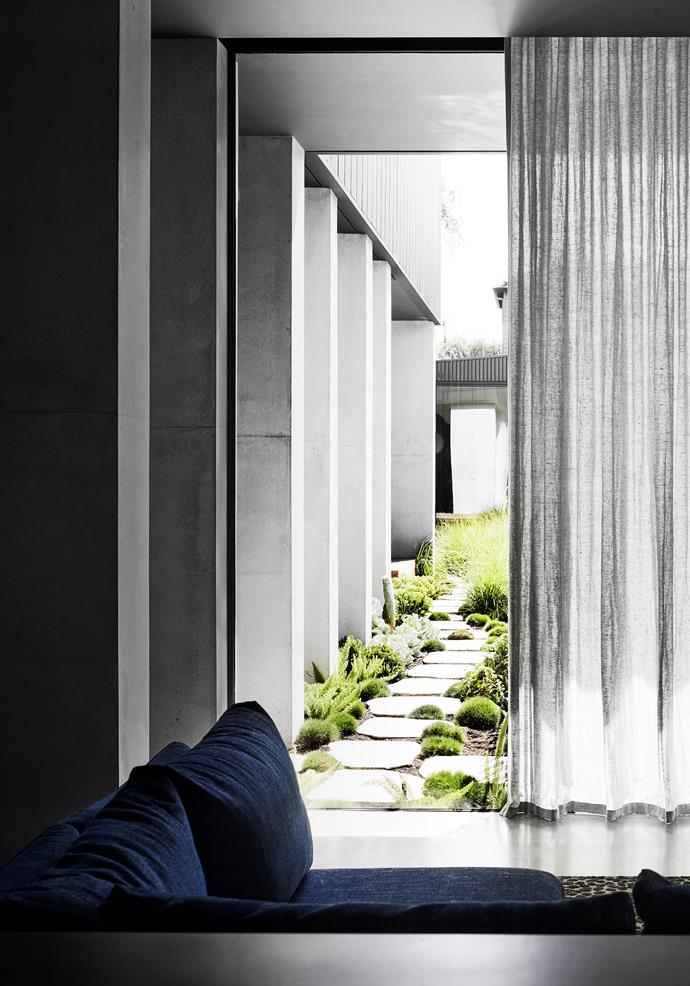 Garden by Plume Studio, constructed by Form Landscapes.  Curtains by Lynch's Window Fashions.