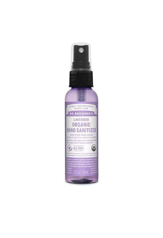 """**Dr. Bronner Hand Sanitizer Lavender (59ml), $9.85, [Adore Beauty](https://www.adorebeauty.com.au/dr-bronner-s/dr-bronner-s-hand-sanitizer-lavender.html?queryID=05854ffe98fc66ac24a5dc3fa11e1b2c